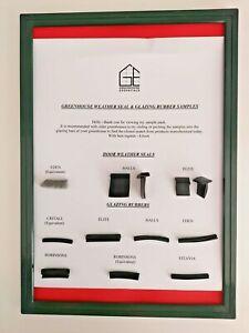 Greenhouse Glazing Rubber & Door Weather Seals SAMPLE PACK 1ST CLASS POST