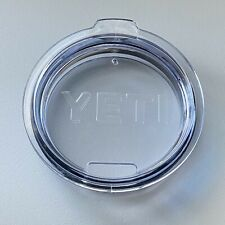 Genuine Yeti Rambler Lid 10 oz Lowball and 20 oz Tumbler Clear EUC!!!