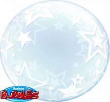 "QUALATEX BIG STAR PLASTIC DECO BUBBLE BALLOON 24"" HELIUM AIR PARTY BALLOONS"