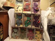 GUND Collectible Christmas Bear - set of 10 NIB - 1991 - 2000