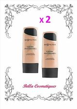 BULK 2 X MAX FACTOR LASTING PERFORMANCE FOUNDATION 102 PASTELLE makeup