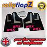 Rallyflapz SUBARU IMPREZA SEDAN (2010-2014) guardafangos negro WRX ROSA 4mm PVC