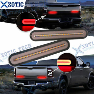 For Dodge Ram 5-Modes Amber Red LED Sequential Turn Signal Tail Brake Light Bar