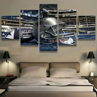 Dallas Cowboys AT&T Stadium 5 pcs Painting Printed Canvas Wall Art Home Decor