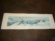 Winter Birches by Artist Bryan Signed Serigraph