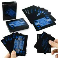 Waterproof PVC Poker Black Plastic Creative Magic Table Board Game Playing Cards