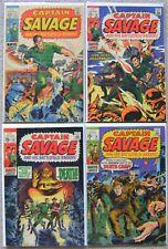 Captain Savage #12-13,#15,#18 Silver Age (4) Marvel Comics Lot Avg VF WW2 Sharp!