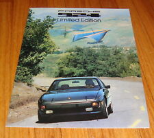 Original 1978 Porsche 924 Limited Edition Foldout Sales Brochure