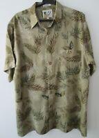 """Vintage Auth Ron Chereskin Tropical Hawaiian Shirt 48""""-122cm L (620H)"""