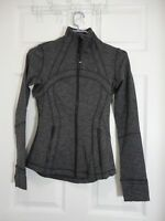 New With Tag Lululemon Define Jacket Variegated Knit Heathered Black Size 4