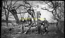 1927 Young Boys Men and Crooke Trees ORIGINAL PHOTO NEGATIVE