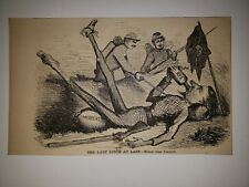 Wilkie Collins Author  1862 Harper's Weekly Woodcut RARE!