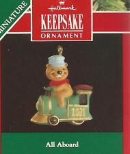 "Hallmark Miniature 1991 ""ALL ABOARD""  Ornament"