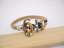 3 sets Di 7.8 mm Antique Silve Hole Anchor Hook Clasps Leather Bracelet -CLP1239