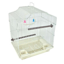 """14"""" Small Parakeet Wire Bird Cage for Finches Canaries Hanging Travel Bird House"""
