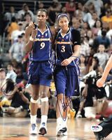 Lisa Leslie Candace Parker Signed 8x10 photo PSA/DNA Autographed Los Angeles Spa
