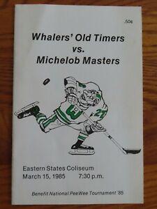 HARTFORD WHALERS Old Timers vs MICHELOB MASTERS Mar 15 1985 Program GORDIE HOWE