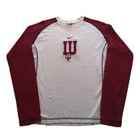 Vintage 90s Nike T-Shirt Mens Large Center Swoosh Indiana University Hoosiers OG
