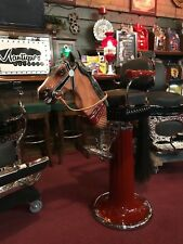 """1900's Emil Paidar Child's Barber Chair with Carved Horse Head  """"Watch Video"""""""