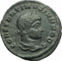 CONSTANTINE II Jr. Constantine I son 316AD Ancient Roman Coin Wreath i75816