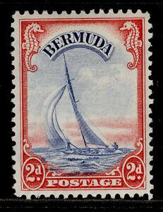 BERMUDA GVI SG112a, 2d ultramarine & scarlet, M MINT.