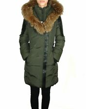 TOWMY BY SNOWIMAGE Down Coat with Natural Fur Black Olive