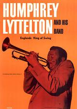 Humphrey Lyttelton and His Band ORIG A1 Konzertplakat 70er GEROLLT JAZZ BLUES