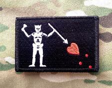 Blackbeard Pirate Tactical Hook Military Morale Patch Black North Carolina
