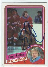 Greg Stefan Signed 1984/85 Topps Card #48