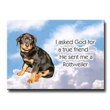 Rottweiler True Friend From God Fridge Magnet No 1 Puppy
