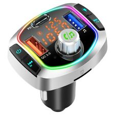 Bluetooth Car Kit Wireless FM Transmitter USB Charger Adapter Stereo MP3 Player~