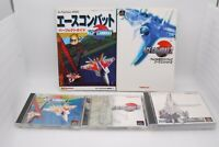 PlayStation ACE COMBAT 1 2 3 3pcs w/ Guidebook Japan import PS1 Namco