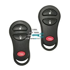 2 Chrysler Dodge Jeep Keyless Entry Remote Key Fob Transmitter Clicker GQ43VT17T