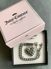 Juicy Couture Quilted Heart Bracelet Silver Tone