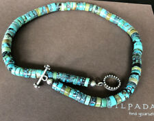 """Rare Silpada Turquoise Heshi Bead And Silver 16"""" Necklace"""