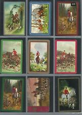PLAYING *SWAP *CARDS*CHEAP AS CHIPS! 9 SINGLE ASSORT HORSES HUNTING & DOGS 309
