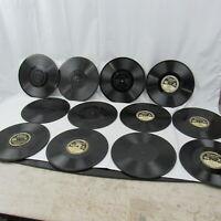 Antique Edison Diamond Disc Phonograph Record lot of 12 music .25 thick Vinyl