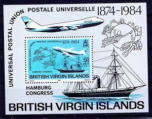 UPU congress, Ships, Airplanes, British Virgin Islands 1984 MNH SS