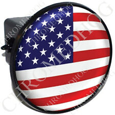 """2"""" Tow Hitch Receiver Cover Plug Insert for Most Truck & SUV - USA American Flag"""