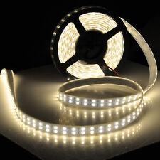 5M Double Row 5050 SMD 600 Warm White Flexible LED Strip light 120led/M DC