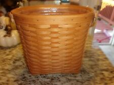 New ListingLongaberger Small Oval Waste Basket With Protector