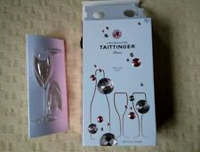 2 x Tattinger Champagne Glasses/Flutes BNIB - NO Champagne!