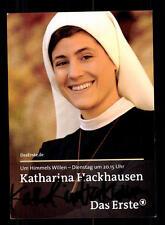 Katharina Hackhausen Um Himmels willen Autogrammkarte Original  # BC 66604