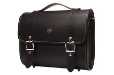 Luxury Leather DSLR Camera Bag Insert Case Messenger Shoulder Bag Preppie(Big)BK