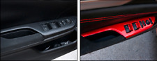 4pcs ABS Red Door Window Lift Switch Panel Frame Trim For Honda CIVIC 2016-2018
