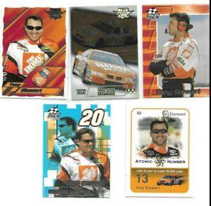 NASCAR BORN IN COLUMBUS INDIANA 5 TONY STEWART RACING CARDS 1 GOLD PARALLEL C