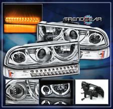1998-2004 CHEVY BLAZER S10 HALO PROJECTOR HEAD LIGHT+LED BUMPER SIGNAL 2002 2003