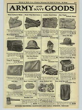 1923 PAPER AD 2 Sided Army Navy Goods Pack Hat Gloves AxeBull Durham Tobacco +