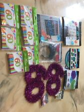 60th Birthday Party Invitations Decorations Confetti Tape Banner Door Curtain