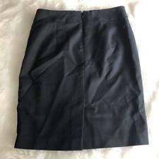 Banana Republic Womens 8 Black Pencil Skirt Suit Bottom Purple Lined Career EUC